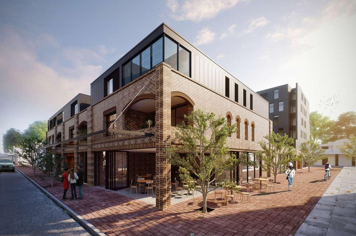 3d rendering of an apartment development