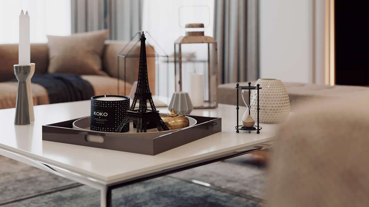 3d visualisation london living room