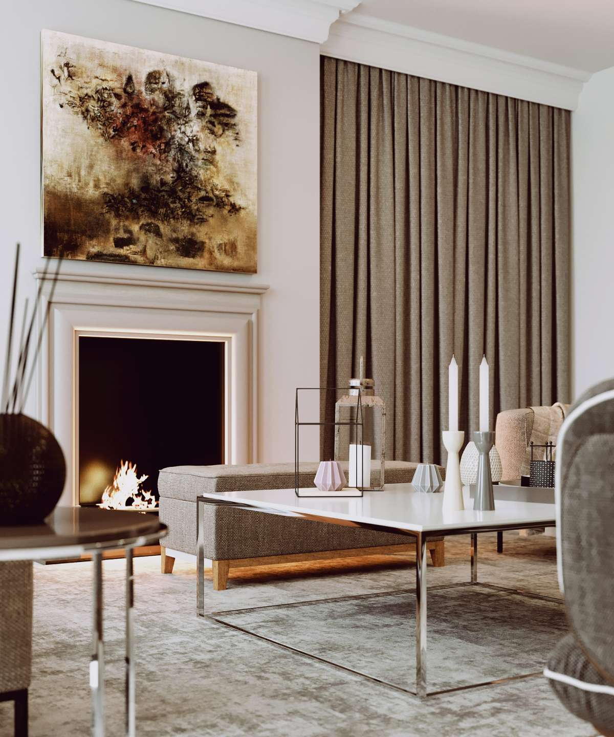 architectural visualisation london living room
