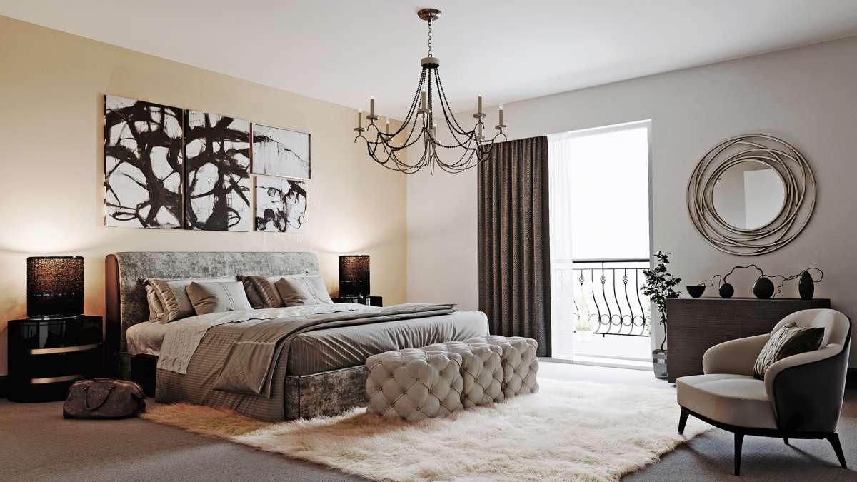 3d visualization london bedroom