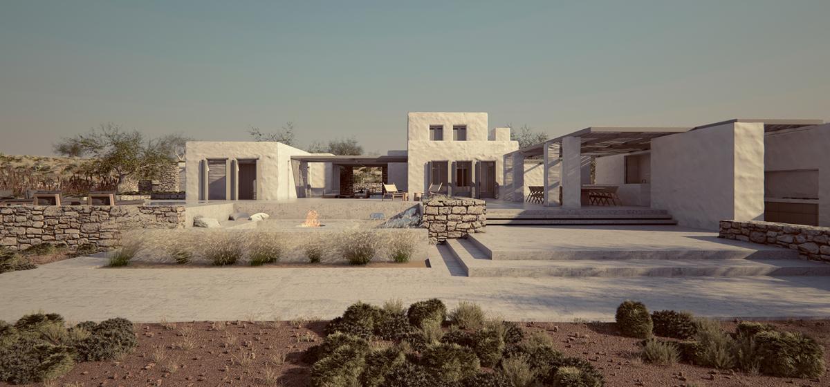 minimal villa in antiparos