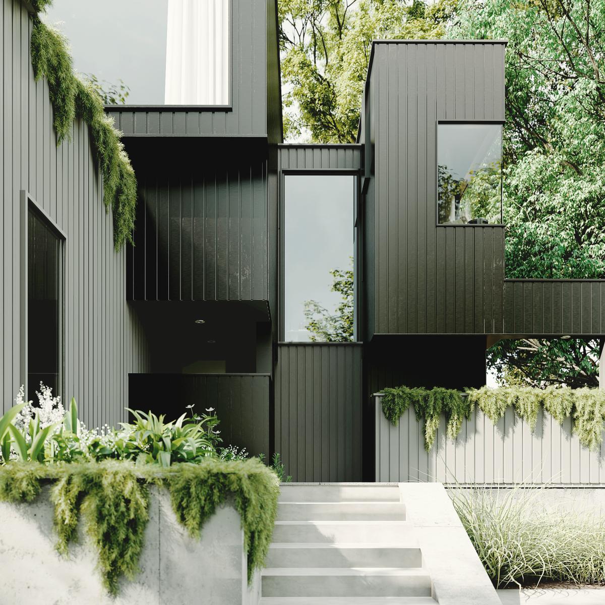 black house 3d rendering