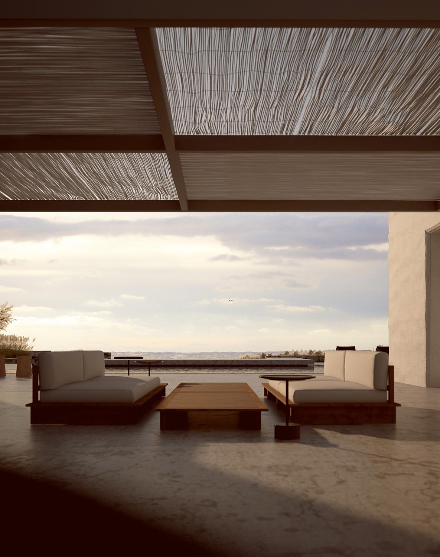 minimal villa in antiparos amazing view