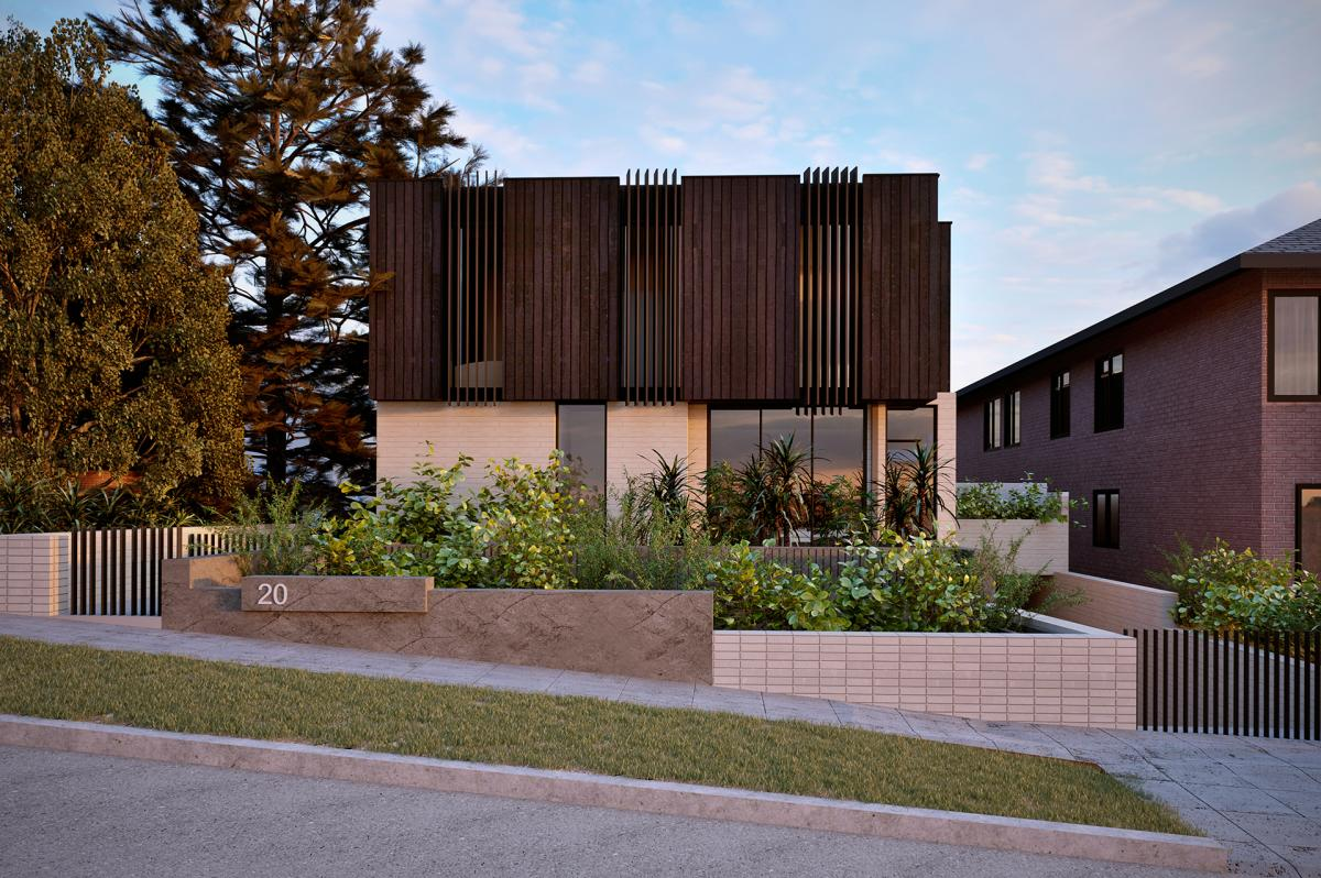 3d rendering of a multi residential property in Maroubra NSW