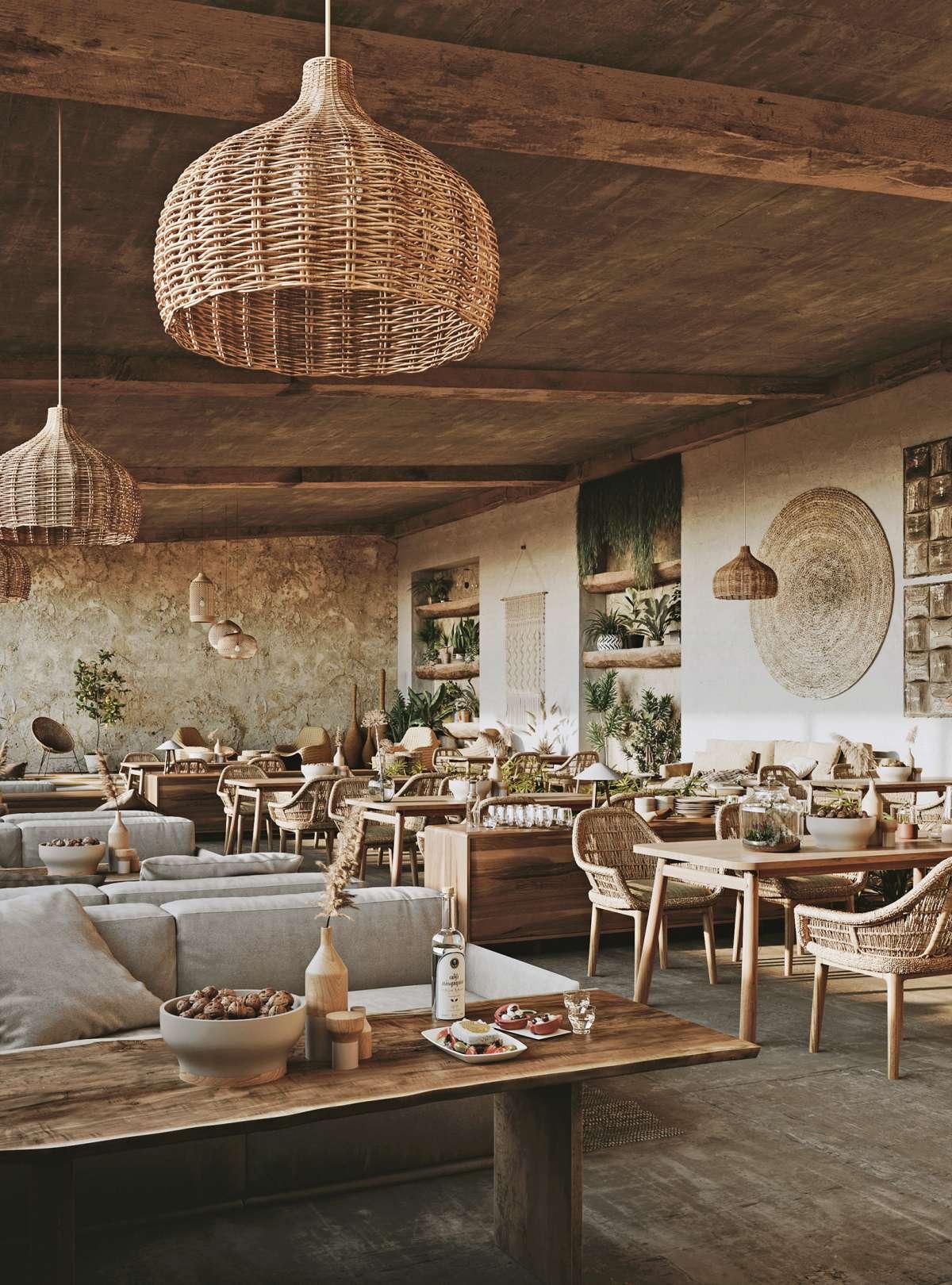 greek restaurant in milos 3d renderings