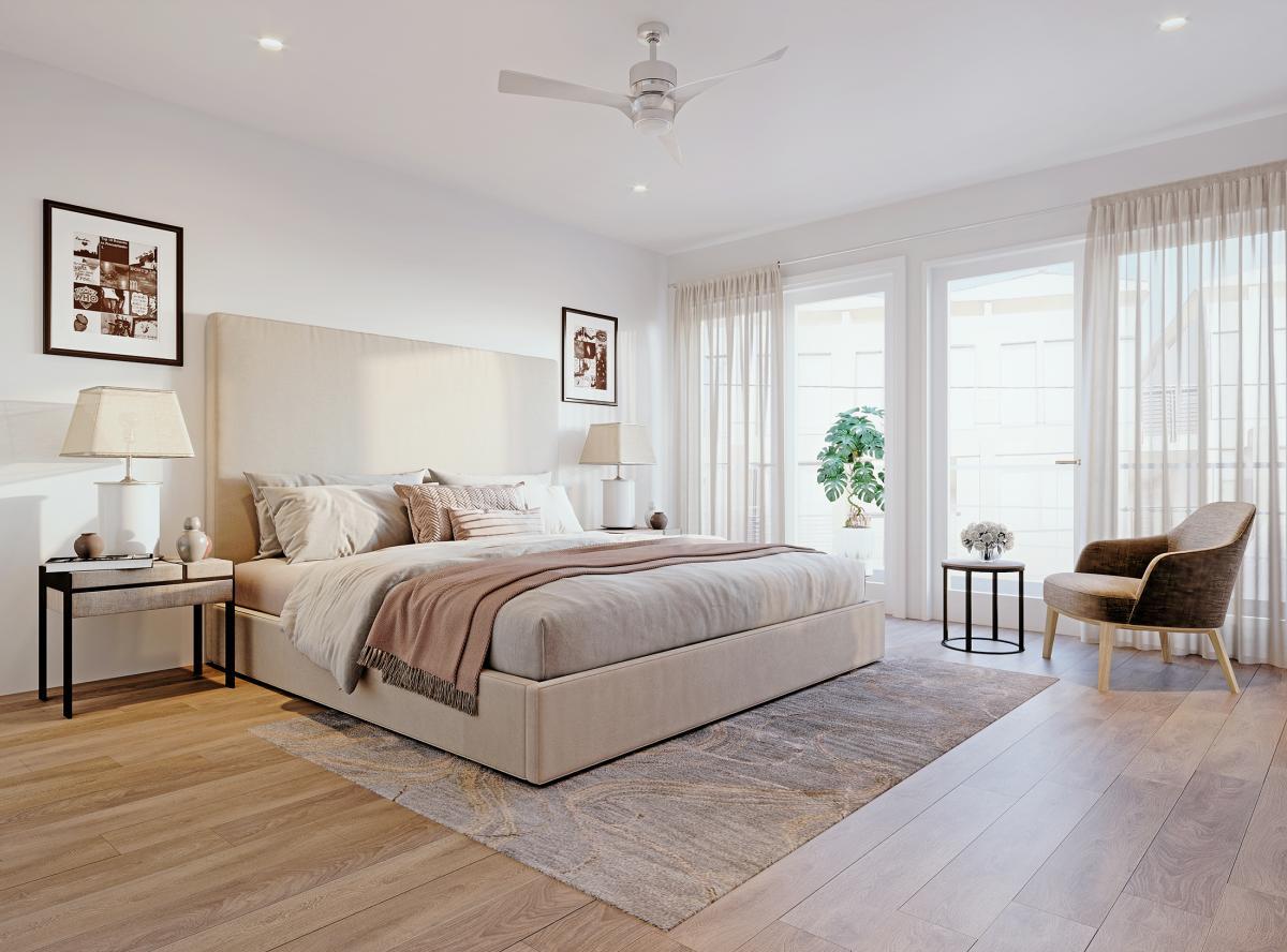 bedroom in Manhattan beach 3d renderings