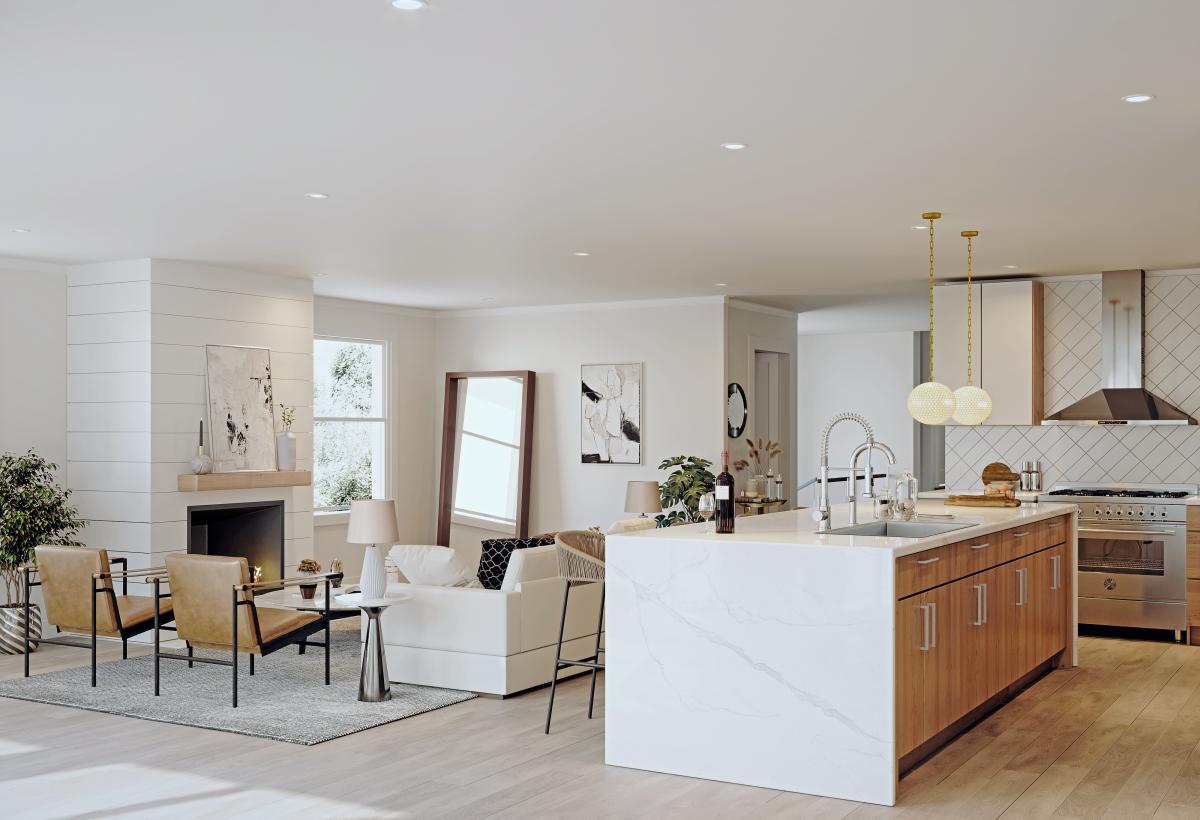 modern living room 3d render