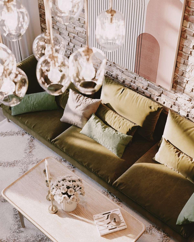 scandinavian interior close up sofa cgi