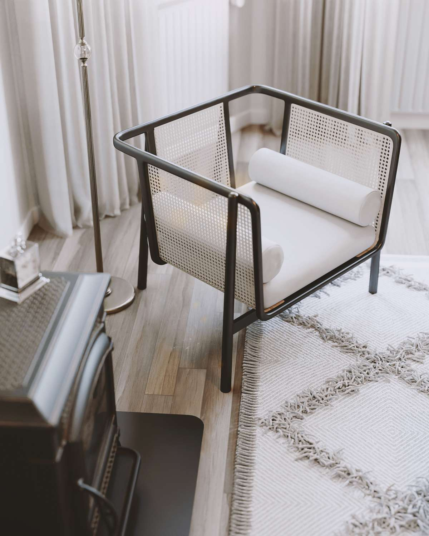 scandinavian interior close up armchair cgi