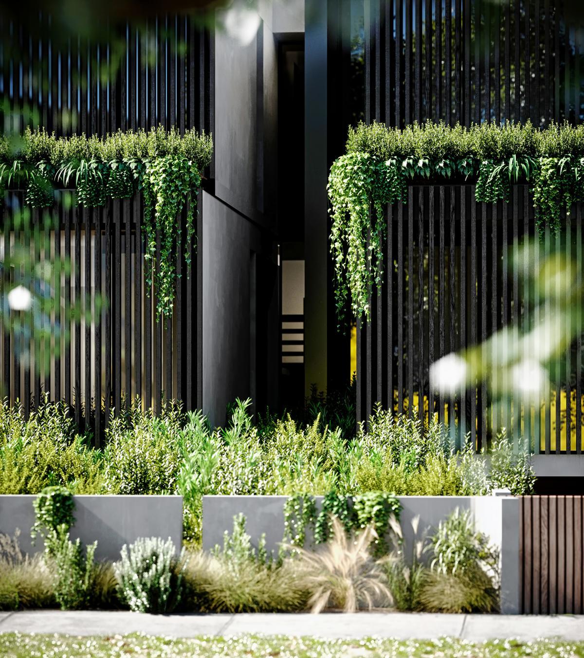 close up 3d render of a duplex house