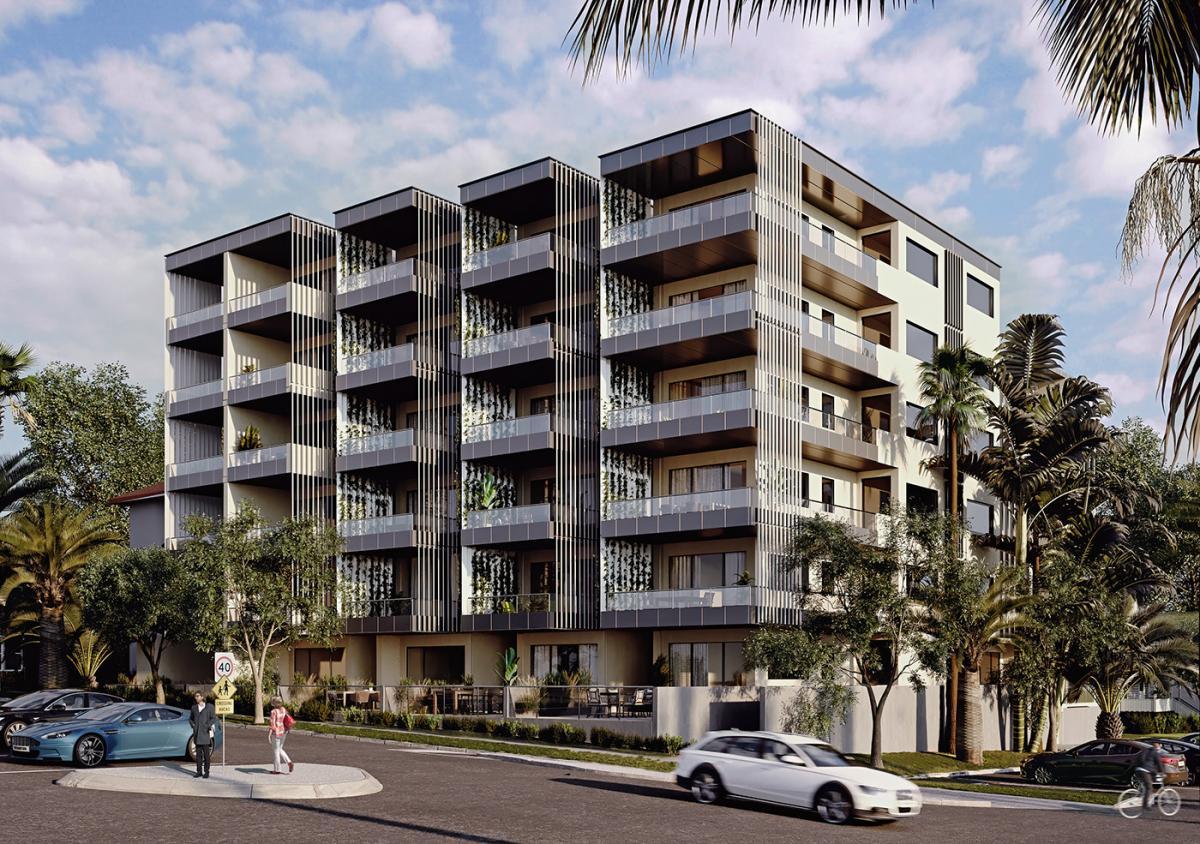 luxury building 3d rendering NSW