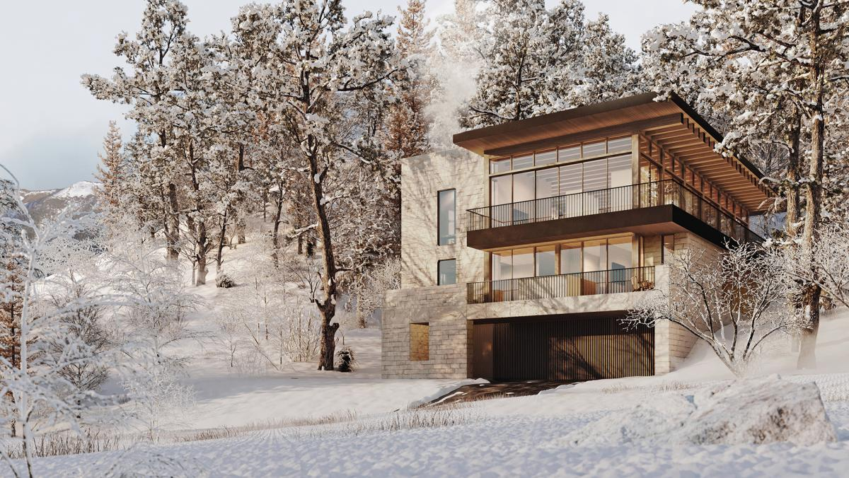 exterior house 3d rendering