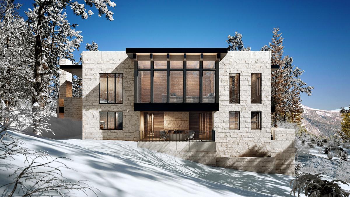 residential house 3d rendering