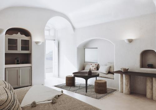 oia hotel living room render