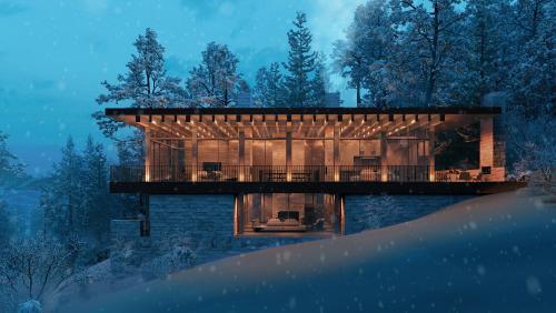 california house 3d rendering